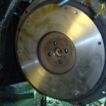 Figur 5. Friskafdrejet svinghjul, husk at affedte inden montering af kobling