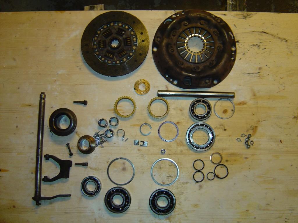 Kobling og diverse gearkasse og overdrive dele