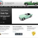 TR Register hjemmeside screenshot